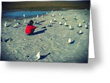 One With The Gulls Greeting Card