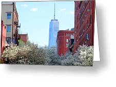 One World Trade Center In Spring Greeting Card