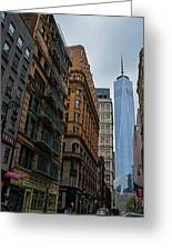 One World Trade Center New York Ny From Nassau Street Greeting Card