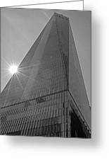 One World Trade Center New York Ny Sunset Black And White Greeting Card