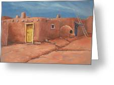 One Yellow Door Greeting Card