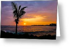 Oneo Bay Sunset Greeting Card