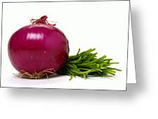 Onion And Chives Greeting Card