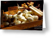 Onions Blancs Frais Greeting Card