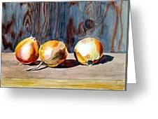 Onions In The Sun Greeting Card