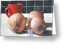 Onions Greeting Card by Tim Johnson