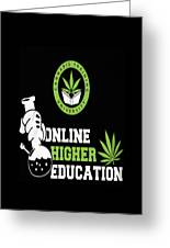 Online Higher Education Greeting Card