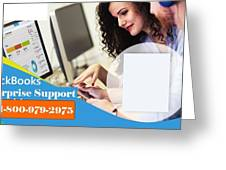 Online Support Phone Number For Quickbooks Enterprise Greeting Card