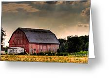 Ontario Barn In The Sun Greeting Card by Tim Wilson