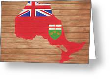 Ontario Rustic Map On Wood Greeting Card