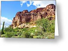 Onward And Upward At The Superstition Mountains Of Arizona Greeting Card