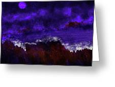 Oocean In The Moonlight  Greeting Card