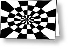Op Art Greeting Card by Methune Hively