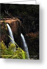 Opaekaa Falls Greeting Card