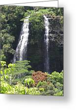 Opaekaa Falls On Kauai Before A Storm Greeting Card