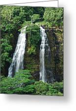 Opaekaa Waterfall Greeting Card