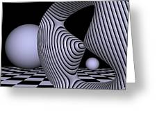 Opart Devil's Curve Greeting Card