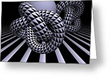 Opart Knots Greeting Card