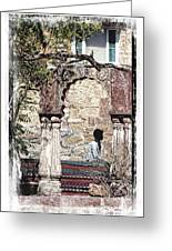 Open Air Bed Among The Arches India Rajasthan 1c Greeting Card