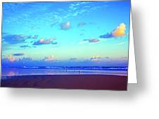 Open Beach Ponce Inlet Atlantic Ocean Greeting Card