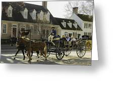 Open Carriage Ride In Colonial Williamsburg Virginia Greeting Card