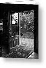 Open Door B-w Greeting Card