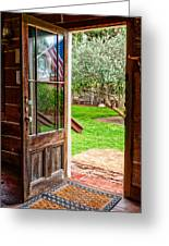 Open Door Greeting Card