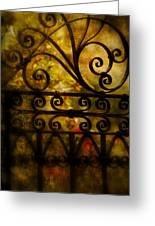 Open Iron Gate Greeting Card