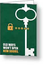 Open New Doors Business Quotes Poster Greeting Card