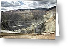 Open Pit Mine, Utah, United States Greeting Card