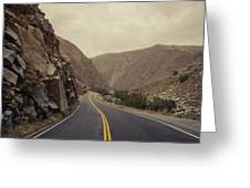 Open Road Through The Canyon Greeting Card