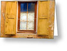 Open Shutters Greeting Card