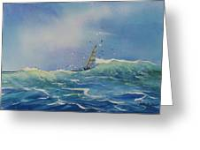 Open Waters Greeting Card by Laura Lee Zanghetti