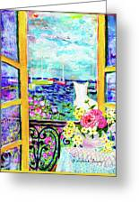 Open Window-colours Greeting Card