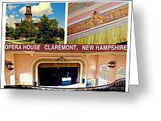 Opera House Claremont Nh Greeting Card