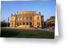 Opera House, Prague Greeting Card