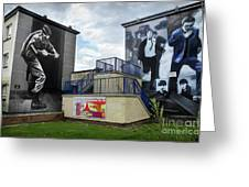 Operation Motorman Mural In Derry Greeting Card