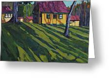 Opinicon Cottages In Autumn Greeting Card
