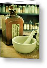 Opium Bottle In Apothecary Greeting Card