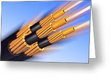 Optical Fibre Bundle For Communications Greeting Card