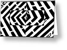 Optical Illusion Maze Of Floating Box Greeting Card