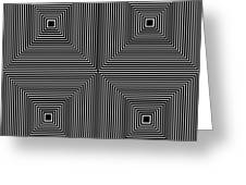 Optical Illutions Greeting Card