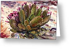 Opuntia Cactus Greeting Card