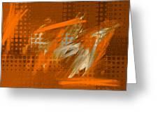 Orange Abstract Art - Orange Filter Greeting Card