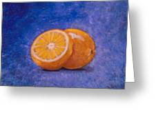 Orange And A Half Greeting Card