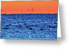 Orange And Blue Morning 4  Greeting Card