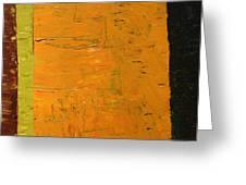 Orange And Brown Greeting Card