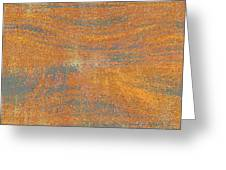 Orange And Gray Abstract Greeting Card