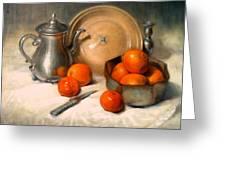 Orange And Gray Greeting Card