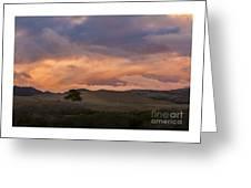 Orange And Purple Cloud Landscape Greeting Card